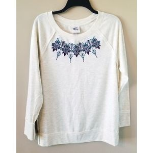 3/$25 Knox Rose Cream Embroidered Long Slee